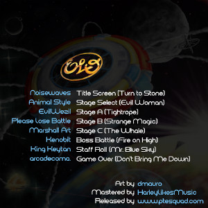 ELO: The Video Game OST back cover