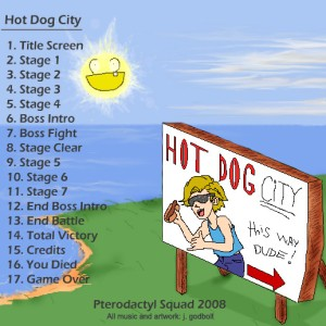 Hot Dog City OST back cover