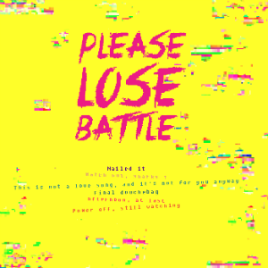 Please Lose Battle back cover
